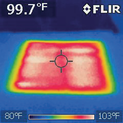 QuietWarmth FLIR heat coverage